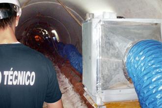 Caisses de ventilation pour les tunnels